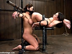 Wenona was a former All-American Gymnast and has the flexibility to prove it. Claire has huge tits. Yep, that sums it up. 