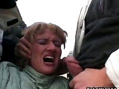 Kidanp victim Sheila sucks four cocks