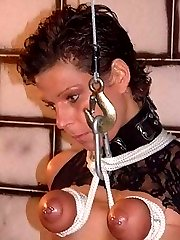 When I catch my slaves in a threesome I bring them down to my dungeon for a good tit torture punishment.