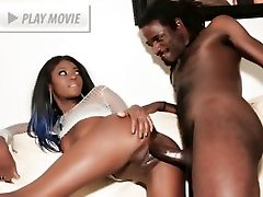 Jenna Brooks flaunts her ebony figure and gets her dose of intense tearing up in this fuck-a-thon video