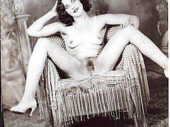 Vintage girl beaver shots