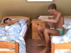 College boys having sex in the dormitory