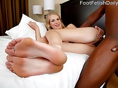 Erika wants to get her feet worshipped, and she is going to get what she needs. She wants to wrap her feet around a cock and jerk it for us. She can't wait to have her toes sucked on while she is getting fucked. You can see how much she loves it when that cum hits her pretty feet.