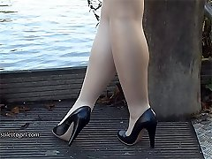 Lovely leggy Lauryn makes your shoe fetish rise up until your high heel juices flow