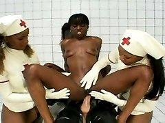 3 Latex Nurses Fucking Patient