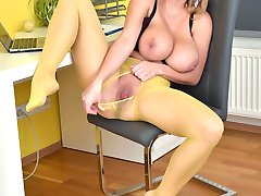 Big tit babe Katarina is the perfect homeworker dont you think? We would all stay home with her...