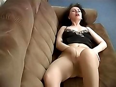 Lustful milf doing the nasty things in pantyhose