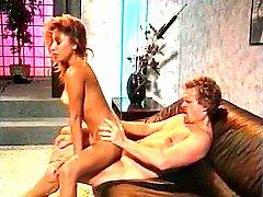 Leena, Asia Carrera, Tom Byron in classic xxx scene