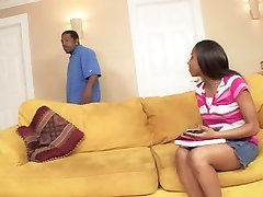 Black Babysitter dont want his Money - Just his big Cock