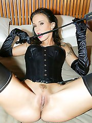 Angelina Sweet solo in nylon stockings