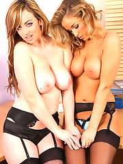 Rosie and Ruby have a lil fun in the office teases each other out of the work wear
