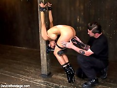 Beretta begins pinned down on top of the sybian. She is anchored at every possible point, which...