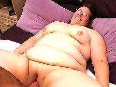 Horny fat chicks enjoying a steamy rear fucking