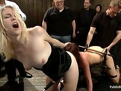 Not new to BDSM, Cassandra is ready for a public challenge. How much can she take? Electric butt...