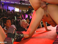 Valeria Blue volunteers to be the main attraction at a Euro sex expo. With a crowd of thousands...