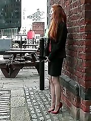 If you feel the urge when you see a high heeled woman and hear the tap of her thin stiletto then this video of Miranda walking on cobbles is not to be missed. Deepen your fetish with her, you know how much you need it