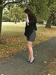 Sara always wears high heels and loves the feeling when her feet are in a good high pair with narrow fronts and a thin heel! In this video you will see her stop to admire the beauty of her shoes while your hard feeling is stimulated at the clack of her heel