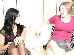 Brunette and blonde love the sixty nine position