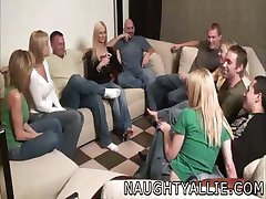 PARTY GAME LEADS TO A HUGE ORGY SWINGER WIVES