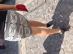 candid business woman walking so tight