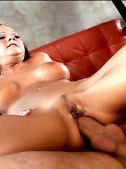 Sensual blonde pornstar Sophia sucks and bones hard anally