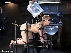 Start by taking a willing pain slut. Add in brutal device bondage, then a heavy helping of...
