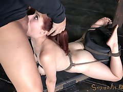 Penny Pax is back for another adventure at the best Bondage and Rough Sex site on the web. This big-breasted redhead is a complete slut for the big black cock. Placed in a brutal back arch she can hardly catch her breath as the sybian tears orgasm after orgasm from her helpless pussy. She is already gasping for air when we start ramming cock down her throat. She loves every second of it.