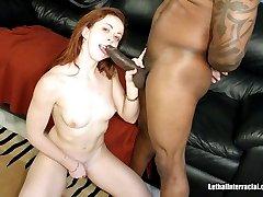 Redhead Slut Fucks Big Black Man