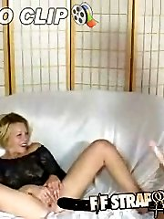 Lesbian fucking her girlfriend with a strapon