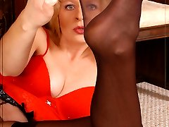 Black tender stockings over black sheer pantyhose