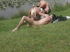 Farmer wife fucked in a threesome