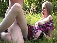 EvelinaJuliet - creampie In Apple garden part 1