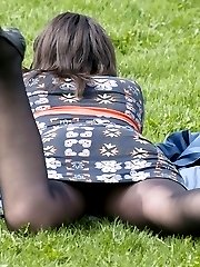 Hot pantyhose upskirt photos