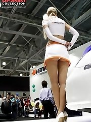 Pretty upskirt girls pose for you
