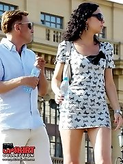 Gorgeous summer dress upskirts