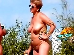 It was a real nudist party full of big babes with huge tits and fat asses