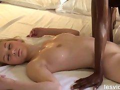Interracial Lesbian Massage
