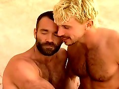 Hot Hairy Daddy Fucks Blond Twink Then A Spitroast