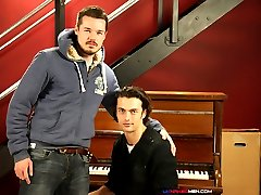 Adam Dacre is a multi-talented man. Not only is he a piano teacher, he's a self-proclaimed, well-seasoned cocksman. And that's no boast! Justin Harris is no slouch in the sex department either. In fact, the handsome young man might look like the typical, sweet and innocent boy-next-door type but trust us when we say he's hardly innocent. The cock slurping slut can take a good, hard fucking and Adam is just the man to give it to him, fucking Justin's juicy hole unt