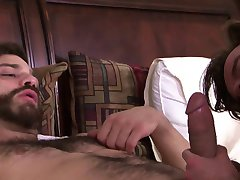 Bearded hunks cocksucking and cumdropping