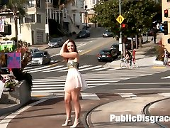 Sweet slutty Jodi wanders the streets of San Francisco with her ass out for all to see. She...