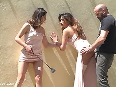 Newbie Penelope Gets Suspended, Flogged and Fucked - Part 1Penelope Cum is a sweet, adorable beauty, new to the scene but ready to take it all in. Max Cortes brings Valentina Bianco to a location popular with climbers, to find Penelope bound and suspended, eager for them to use. They flog her, spit on her and use her body as they please, showing her off to the men around them. Then they take her to a street with a grand view of Barcelona, where Penelope's made to suck dick and get fucked in plain view of anyone passing by.Penelope and Valentina in a Greedy Group Fuck - Part 2Fresh from a hard fuck on the streets of Barcelona, Penelope Cum and Valentina Bianco are brought to a club to continue their public abasement. They're fucked and humiliated in front of a large group of patrons, as two other hot sluts join in on the fun. Three cocks and four whores pound it out, until our newbie Penelope is fully fucked and covered in hot cum!