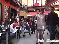 Rija Mae is a pain slut and ready for public disgrace. She gets tied up in rope bondage and...