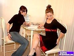 Lana spanks Madison and Kailee