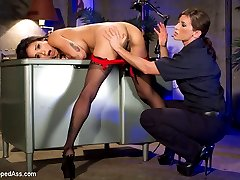 When another hooker is booked for turning tricks, Officer Ariel X has to check all of her holes...