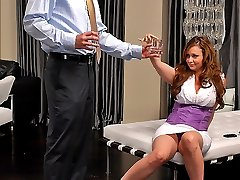Super hot pink mini skirt babe gets her juicy box pounded and cum faced in these unbelievable...