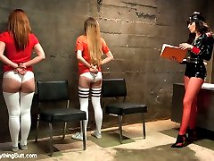 Sexy fetish prison guard Dana DeArmond has two submissive whores, Emma Haize and Claire Robbins,...