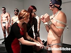 Maitresse Madeline has her slaves on display ready to be sold to the highest bidder. Some slaves...