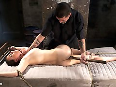 Casey and The Pope have a chemistry that compare to very few, and it shows as she submits to his every desire. The bondage is grueling from the first scene all the way to the very last second of the shoot. She suffers through brutal breath control, a 3 point suspension, her cervix being caned, and no stop torment. her orgasms are just as powerful as the rest of the shoot.