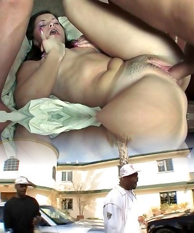 Shaved pussy brunette Latina fucks a hard cock and sucks it off